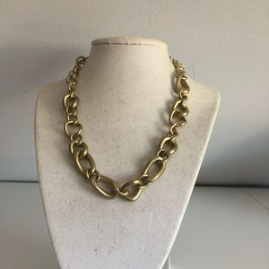 Gold chain link style necklace